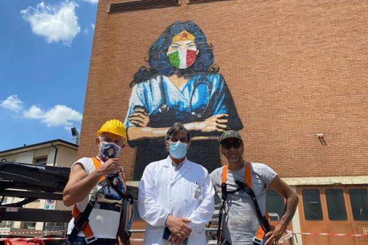 07.2020 #fullcolor - Alessio B I WONDER WOMAN - Ospedale S.Antonio - Padova
